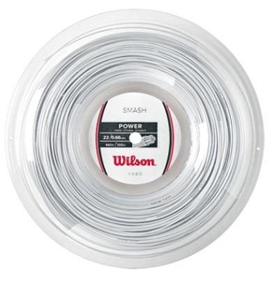 [市場]WILSON ウィルソン バドミントンガットSMASH 66 200m REEL WHITEスマッシュ 66 200m リール ホワイト 30%OFFセール