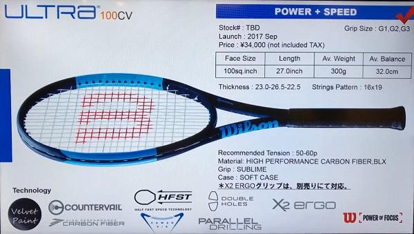 Ultra 100CV black edition WILSON Wilson tennis racket ULTRA100 CV BLACK  EDITION WRT740620 domestic regular circulation product