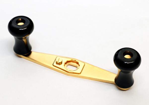 【送料無料!】 カハラジャパン KAHARA JAPAN  ABUアンバサダー用 スペアハンドル 標準プラスティックノブ DXサンド 100mm #黒