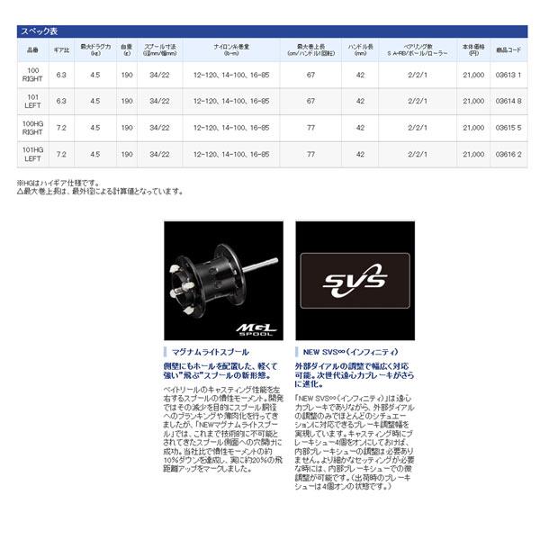 Shimano 16 kashitasu MGL 101HG向左拧