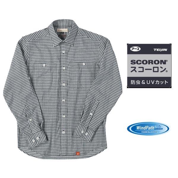 フォックスファイヤー SCパナマギンガムシャツ #BLACK 【送料無料】【お取り寄せ商品】