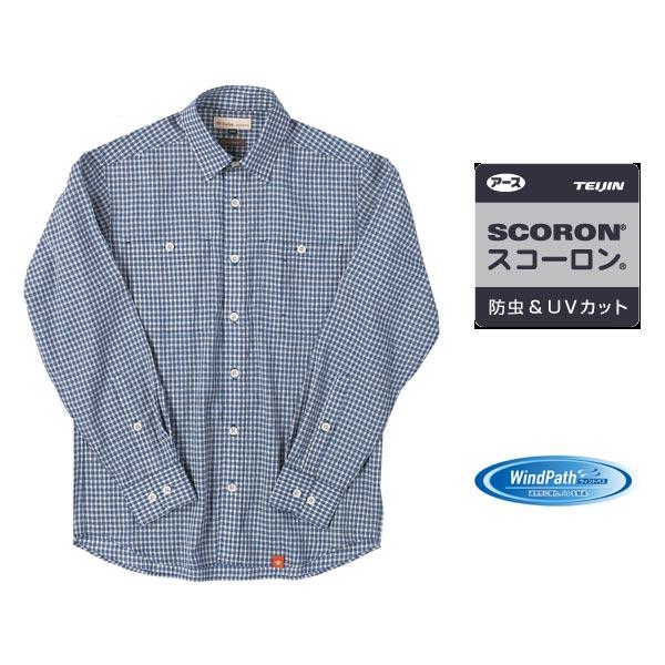 フォックスファイヤー SCパナマギンガムシャツ #Blue【送料無料】【お取り寄せ商品】