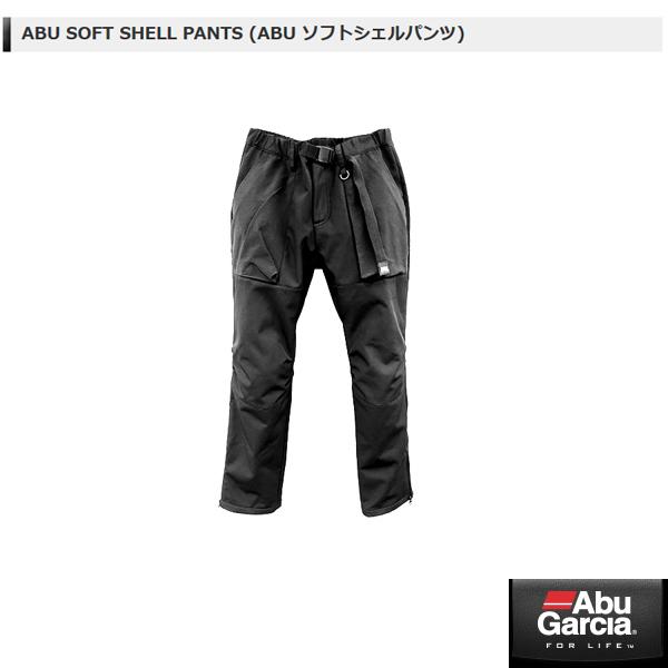 アブ SOFT SHELL PANTS (ABU ソフトシェルパンツ) #ブラック Lサイズ 【メール便NG】【お取り寄せ対応商品】