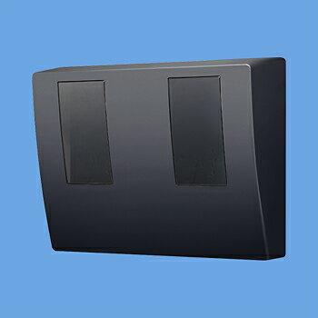 パナソニック スマートデザインシリーズ WHMボックス 隠蔽配線用 防雨型 2コ用・30A~120A用 東京電力管内を除く全電力管内用 単相2線・単相(三相)3線用 ブラック BQKN8325B