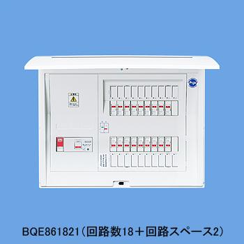 パナソニック 1次送り(100V)回路付住宅分電盤 リミッタースペースなし 露出・半埋込両用形 回路数18+回路スペース2 60A コスモパネルコンパクト21 BQE861821