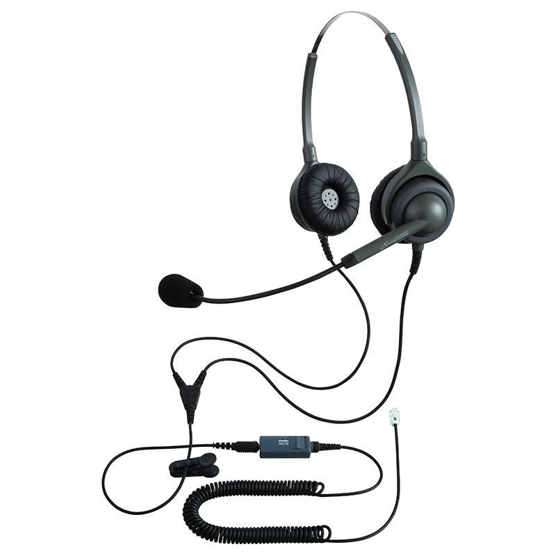 NDK(長塚電話工業所) エンタープライズ ビジネスホン向けヘッドセットパック 両耳タイプ VMC3接続コード(ボリューム/ミュートスイッチ付) タイプM EN2-M(OG)-VMC3 カラー:オリーブグリーンのみ