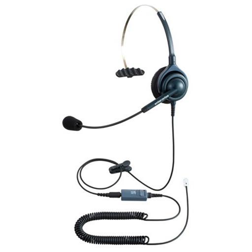NDK(長塚電話工業所) エンタープライズ ビジネスホン向けヘッドセットパック 片耳タイプ VMC3接続コード(ボリューム/ミュートスイッチ付) タイプH EN-H(6色)-VMC3