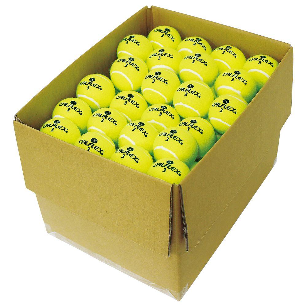 カルフレックス CALFLEX テニステニスボール ノンプレッシャー硬式テニスボール(100P) LB-410