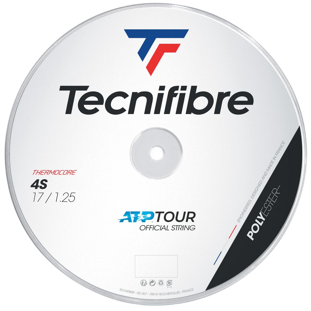テクニファイバー Tecnifibre テニスガット・ストリング 4S 1.25mm 200mロール TFR406