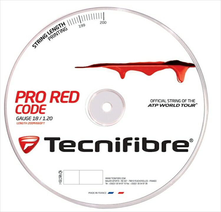 TFR500】硬式テニスストリング(ガット)【prospo】 200mロール レッドコード) 【新パッケージ】Tecnifibre(テクニファイバー)【PRO REDCODE(プロ