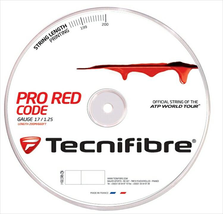 「新パッケージ」Tecnifibre(テクニファイバー)「PRO REDCODE(プロ レッドコード) 200mロール TFR501」硬式テニスストリング(ガット)【prospo】