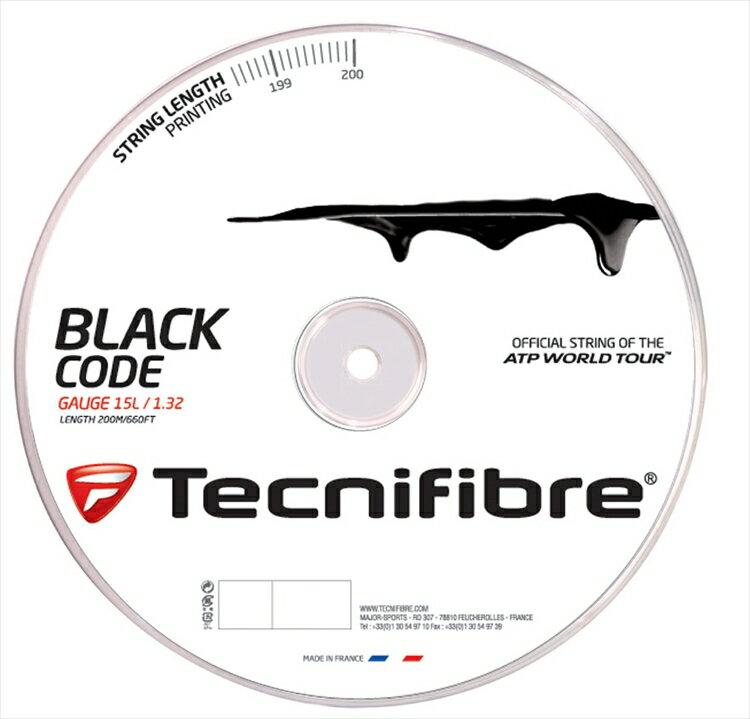 『即日出荷』「新パッケージ」Tecnifibre(テクニファイバー)「BLACK CODE(ブラックコード) 200mロール TFR506」硬式テニスストリング(ガット)【prospo】「あす楽対応」【テクニファイバーキャンペーン】