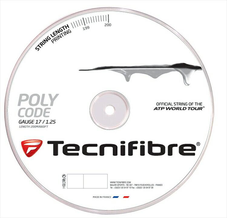 【新パッケージ】Tecnifibre(テクニファイバー)【POLY CODE(ポリコード) 200mロール TFR510】硬式テニスストリング(ガット)【prospo】