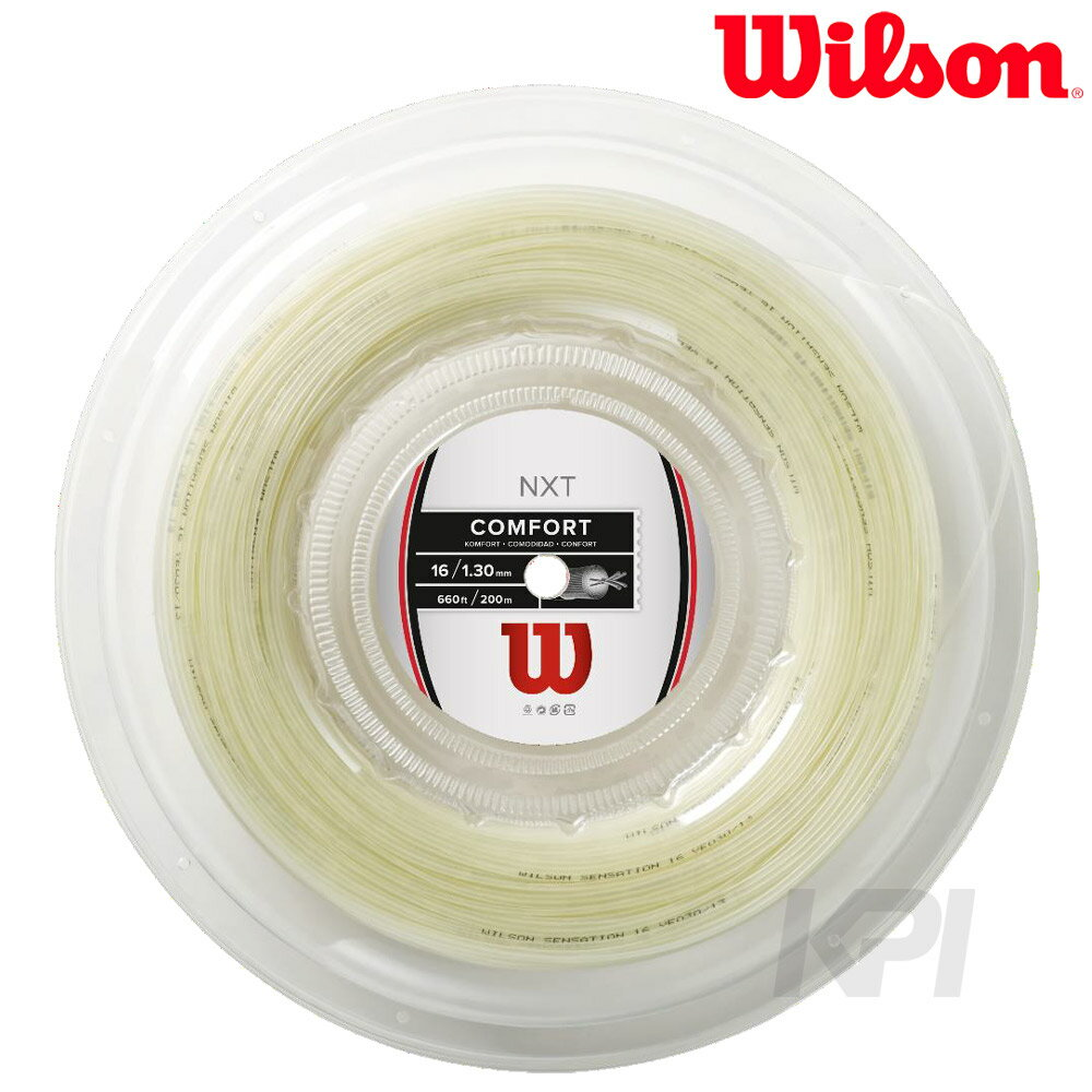 Wilson 並行輸入品 ウイルソン NXT 16 REEL 硬式テニスストリング 新作からSALEアイテム等お得な商品 満載 ガット WRZ912700 200mロールガット