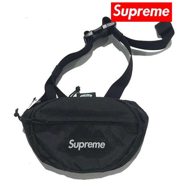 Supreme/シュプリーム  SS18 ボックスロゴ ウエストバッグ ブラック【64297-blk】
