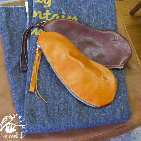 【オーダー商品※発送まで3~5営業日】◆slowH(スロウエイチ)◆個性的な形のレザークラッチバッグ『Charque』2カラー【sh236】◆