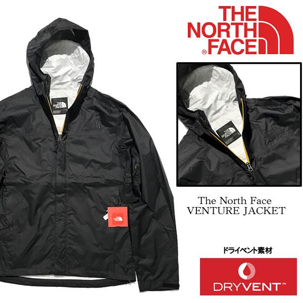 The North Face(ノースフェイス)US企画 VENTURE JACKET /ベンチャージャケット ナイロンジャケット/ブラック【9116573206-blk】【選べる福袋対象商品A】