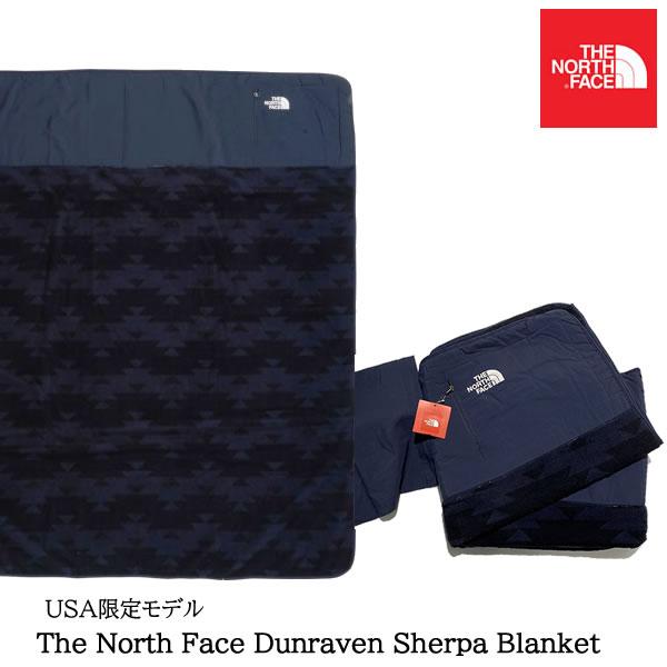 【人気ブランド】【あす楽】【即納】 The North Face Dunraven Sherpa Blanket ノースフェイス USAモデル シェルパブランケット【9236170294-navy】