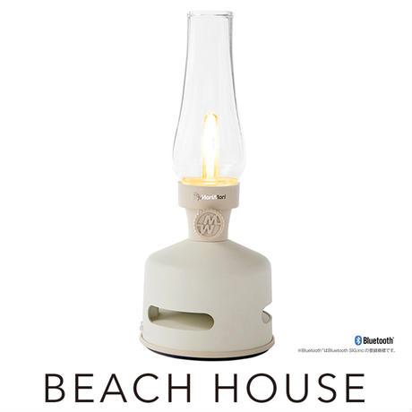 MoriMoriLEDランタンスピーカーBEACH HOUSE (ホワイト色)FLS-1704-WH