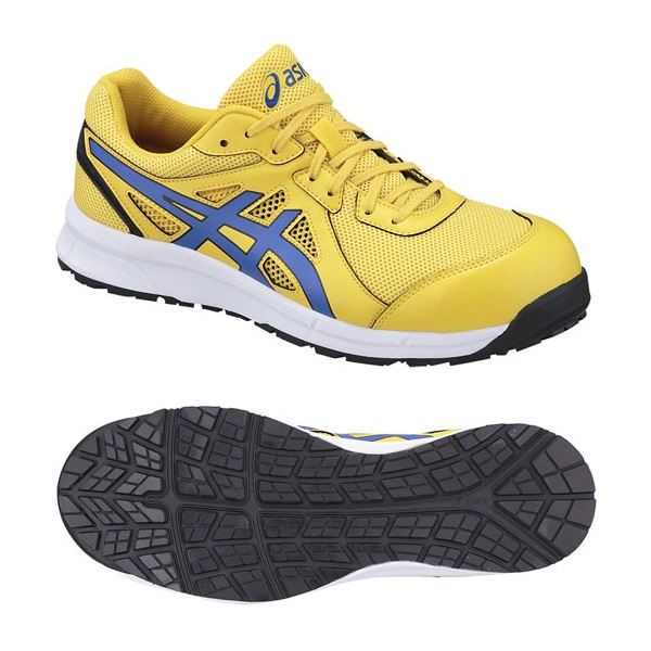 アシックス安全靴ウィンジョブCP106タイチイエロー×ハインペリアブルーFCP106-0445