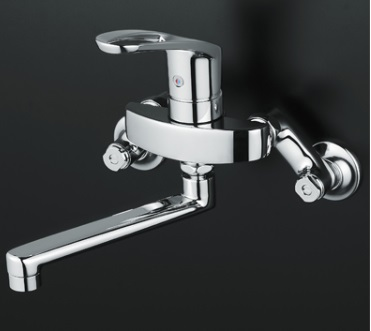 KVK壁付シングルレバー式混合栓KM5000TKO