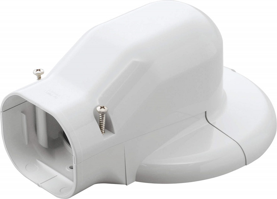 因幡電工ウォールコーナーエアコンキャップ 90LDWM-90-Wケース販売10個入り