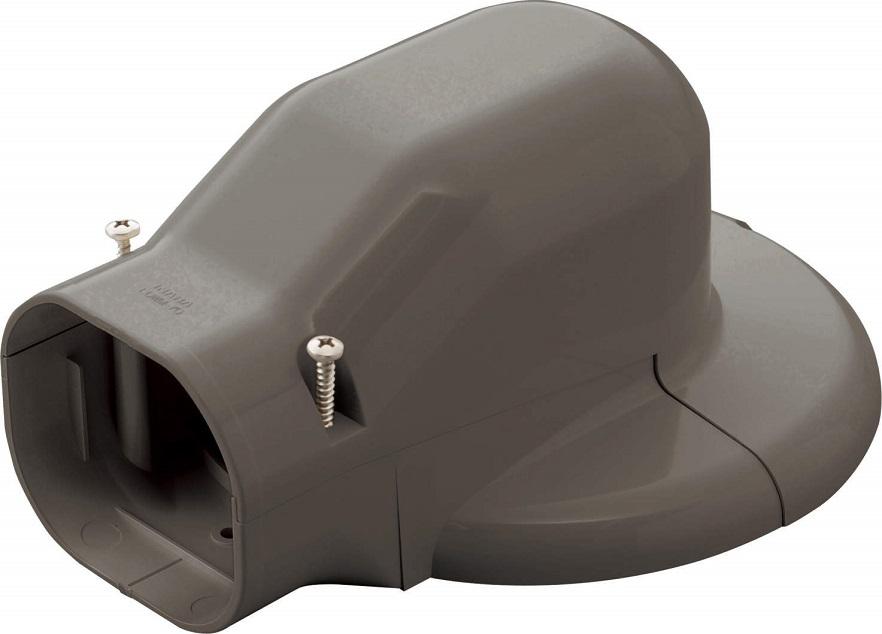 因幡電工ウォールコーナーエアコンキャップ 90LDWM-90-Bケース販売10個入り