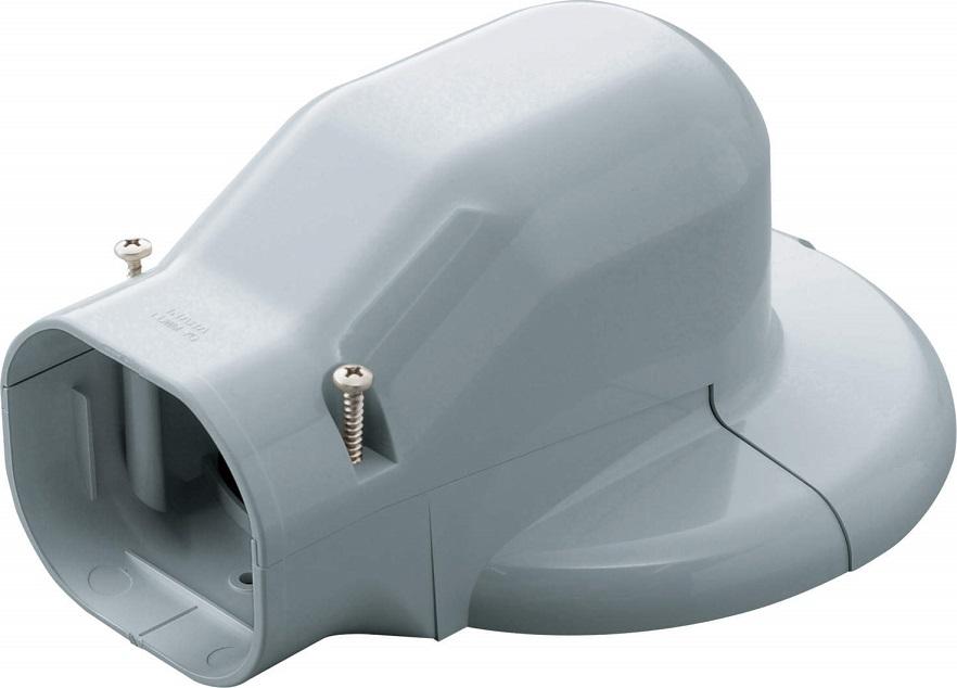 因幡電工ウォールコーナーエアコンキャップ 90LDWM-90-Gケース販売10個入り