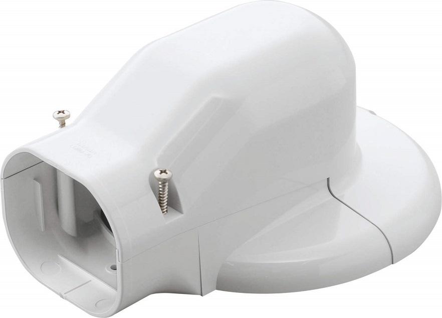 因幡電工ウォールコーナーエアコンキャップ用LDWM-90L-Wケース販売10個入り