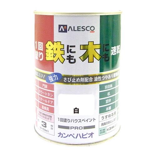 "ALESCO油性建物用""1回塗りハウスペイント""0.5L白NO120-05"