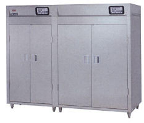 マルゼン 食器消毒保管庫(電気式) 大型タイプ MSH70-72WE-W 奥行2列・両面扉 W3100×D930×H1850 食器カゴ付 2点感知式センサー仕様