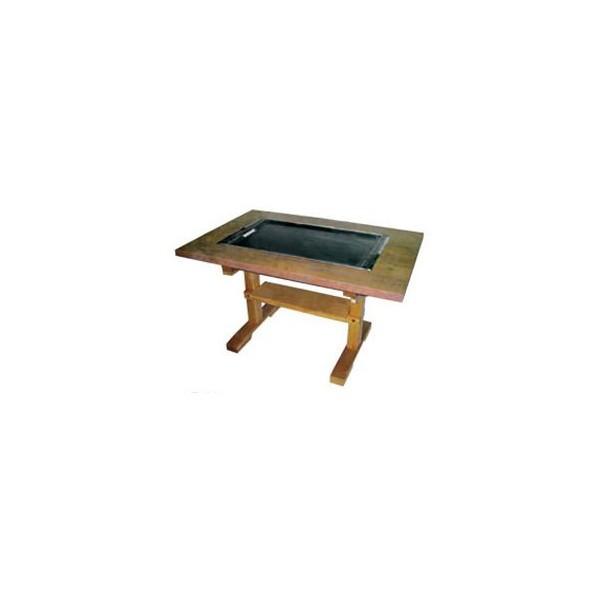 イトキン IKK お好み焼きテーブル(木製脚) IM-280PM LPガス(プロパン)仕様 800・750・700(mm)