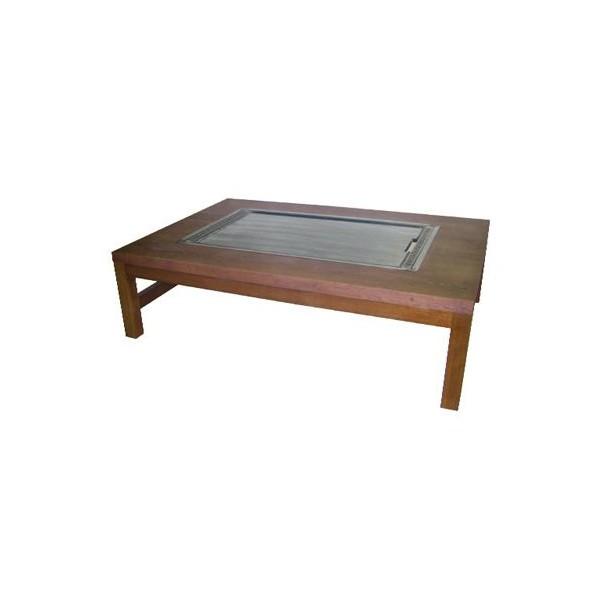 イトキン IKK お好み焼きテーブル(堀こたつ仕様・木製脚) 座卓タイプ IM-6180HM LPガス(プロパン)仕様 1800・800・330(mm)