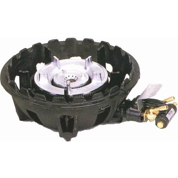 タチバナ 鋳物ガスコンロ TS-218 バーナーのみ 二重コンロ コンパクト LPガス(プロパン)仕様
