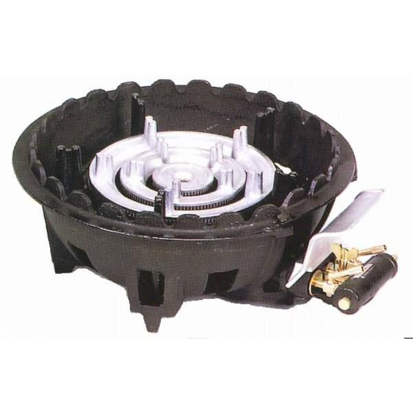 タチバナ 鋳物ガスコンロ TS-318P バーナー・下枠セット 種火付 三重コンロ コンパクト LPガス(プロパン)仕様