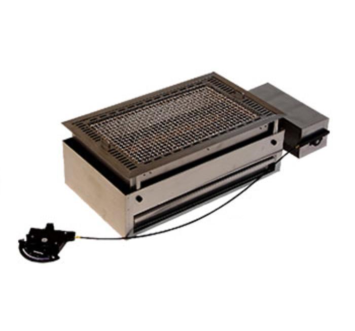 山岡金属 テーブル組込型 バーベキューグリル (溶岩焼タイプ) CTR-4525BBQ 740・365・H230(mm) LPガス仕様