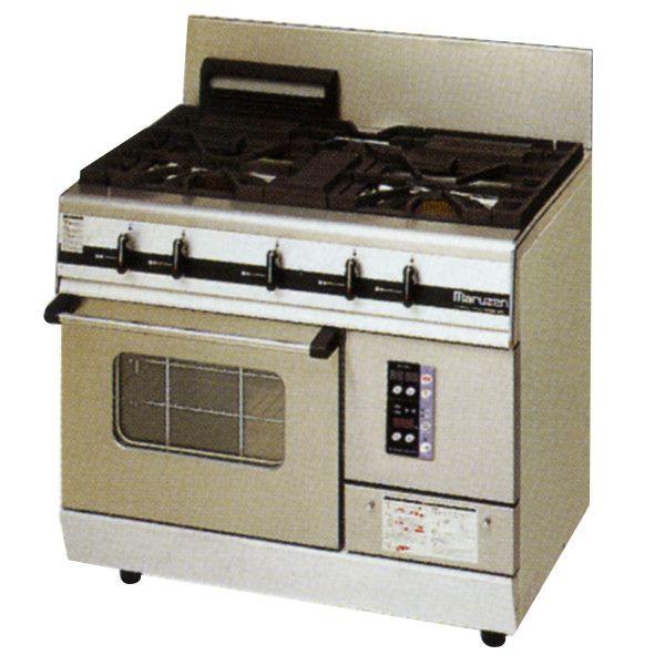 マルゼン パワークックガスレンジ/ガステーブル(3口コンロ)MGRXU-096E (MGRXU-096D) W900・D600・H800・B200 都市ガス仕様