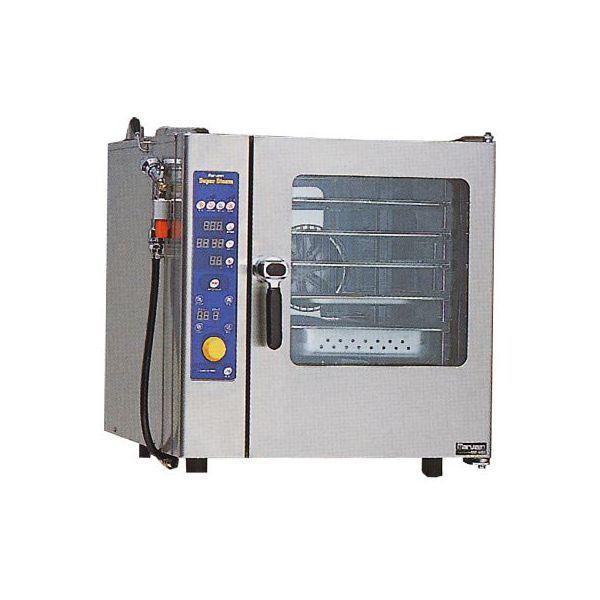 マルゼン ガス式スチームコンベクションオーブン SSCG-05MRSCNU LPガス(プロパン)仕様 (専用架台無) スチコン