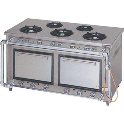 マルゼン スタンダードタイプガステーブル(オーブン搭載) MGR-157DS (MGR-157CS) LPガス(プロパン)仕様 W1500・D750・H800