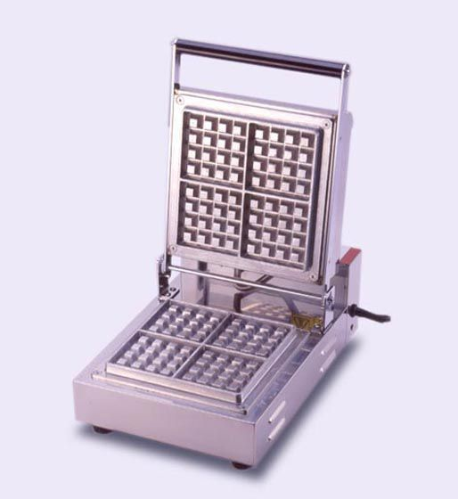 サンテック ベルジャン ワッフルベーカー SBW-100 (4/4) 角型 1連式 単相100V