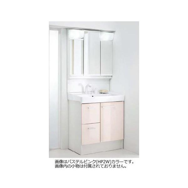 最高級のスーパー INAX ホワイト:プロストア FTVH-755SY1-W/VP1W 洗面化粧台×ミラーキャビネットセット 間口750mm LIXIL オフト MFTV1-753TXJU-木材・建築資材・設備