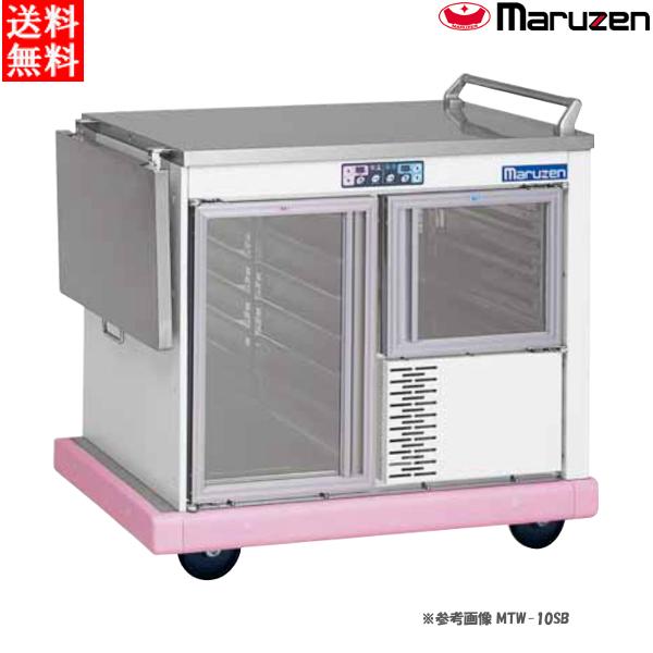 マルゼン ユニットワゴン MTW-10SBK2(MTW-10SK2) 本体標準仕様 木製天板・片面扉両サイドテーブル W1080×D700×H910 病院・介護・学校・給食
