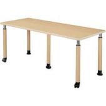 井上金庫 テーブル UFT-5T1875B Bタイプ 2本キャスター脚/2本固定脚 W1800×D750×H596~796(mm) 介護・福祉施設向け