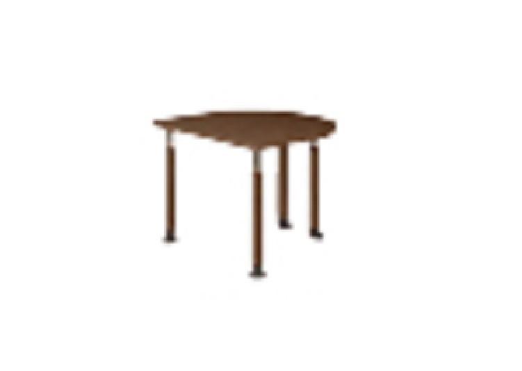 井上金庫 テーブル UFT-9080HB NN ネオナチュラル木目 Bタイプ 2本固定/2本キャスター W900×D800~796(mm) 介護・福祉施設向け