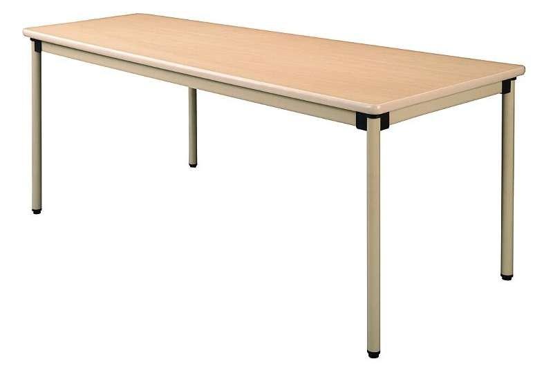 井上金庫 テーブル UFT-KA1675 4本固定脚 W1600×D750×H700(mm) 介護・福祉施設向け