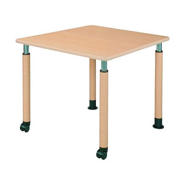 井上金庫 テーブル UFT-0909B Bタイプ 2本キャスター脚/2本固定脚 W900×D900×H596~796(mm) 介護・福祉施設向け
