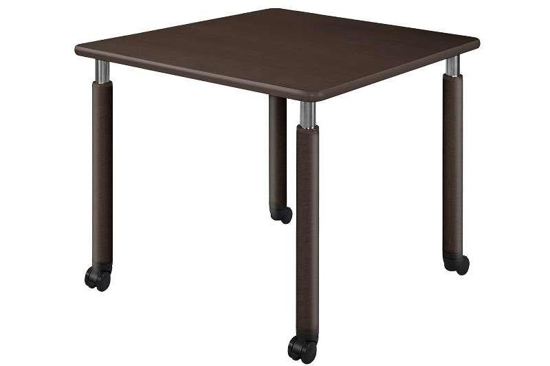井上金庫 テーブル UFT-0909C Cタイプ 4本キャスター脚 W900×D900×H596~796(mm) 介護・福祉施設向け