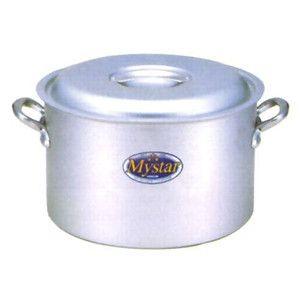 マイスターシリーズ アルミマイスター半寸胴鍋 蓋付き 60cm
