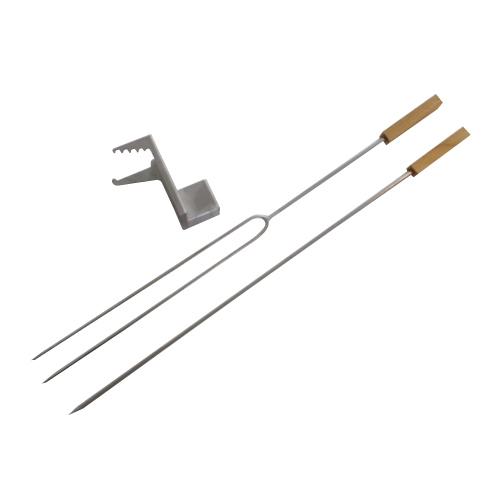 【送料無料】【代引不可】【メーカー直送】串焼きセット(串2本・ホルダー)