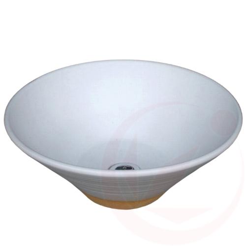 【送料無料】【代引不可】【メーカー直送】陶器の水鉢×白釉(寒冷地仕様 和風ガーデニングパン)